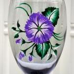 Smoke Wine Glasses With Flowers